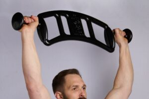 Overhead Press with 44lb MUTT Bar - MUTT Made in USA