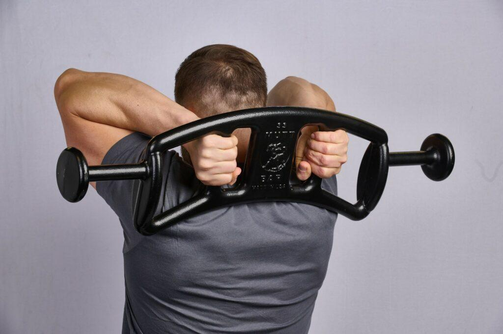 Tricep Extension with 33lb MUTT Bar - MUTT Made in USA