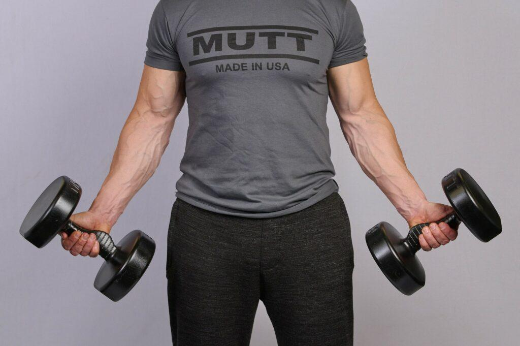 Curls with 50lb MUTT Dumbbell - MUTT Made in USA