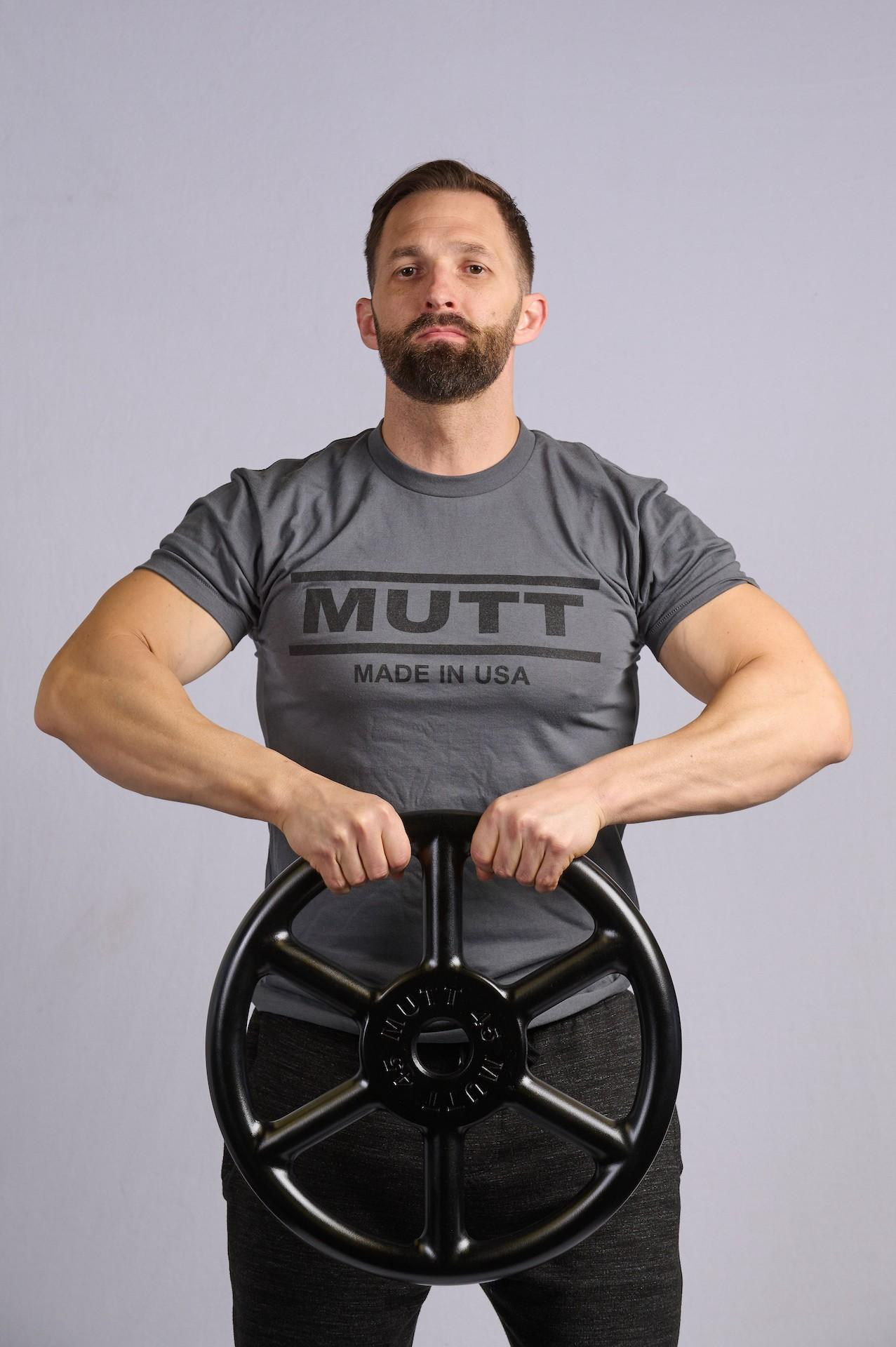 Upright Rows with 45lb MUTT Wheel - MUTT Made in USA